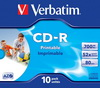 Verbatim CD-R 700 MB 52x Inkjet printable