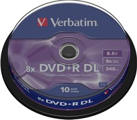 Verbatim DVD+R DL Double Layer 8.5 GB 8x