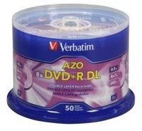Verbatim DVD+R DL Double Layer 8.5 GB 8x Hub Printable